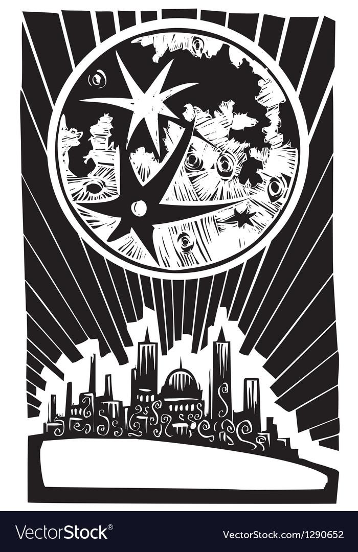 Lunar City vector image