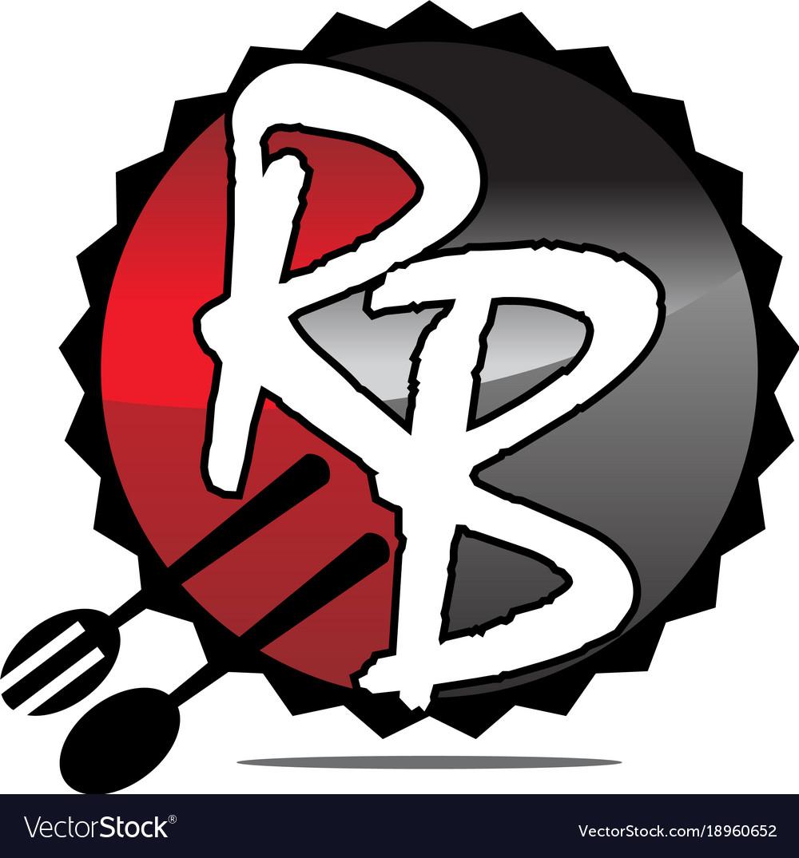 Restaurant fork spoon letter r b