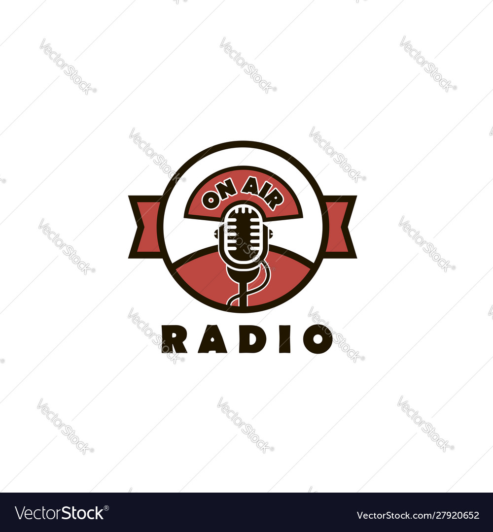 Retro microphone emblem