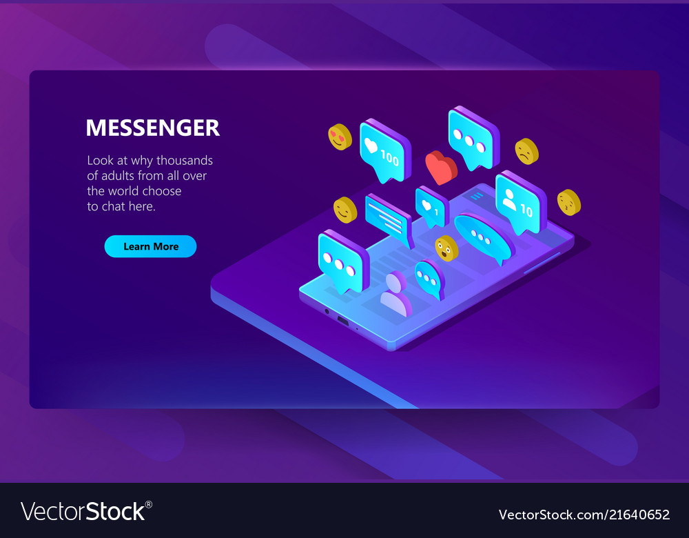 Site template for adult messenger chat