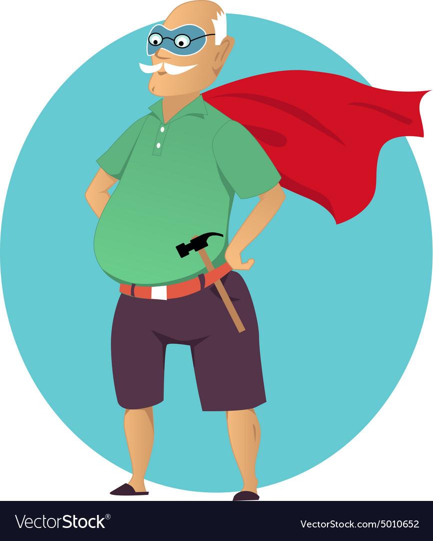 Super grandpa vector image