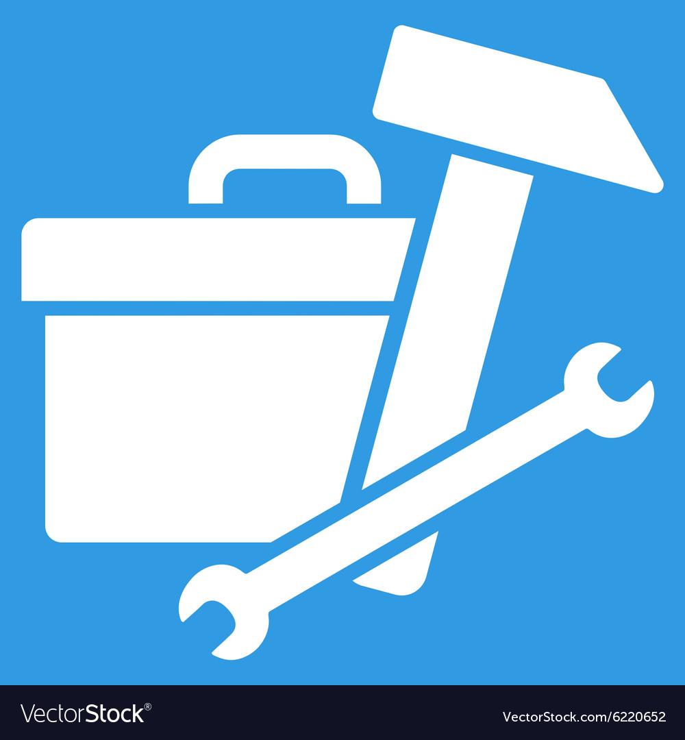 Toolbox icon Royalty Free Vector Image   VectorStock