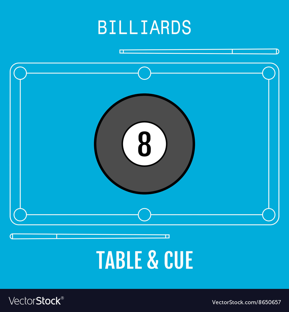 Billiard ball Sport flat icon Pool table and
