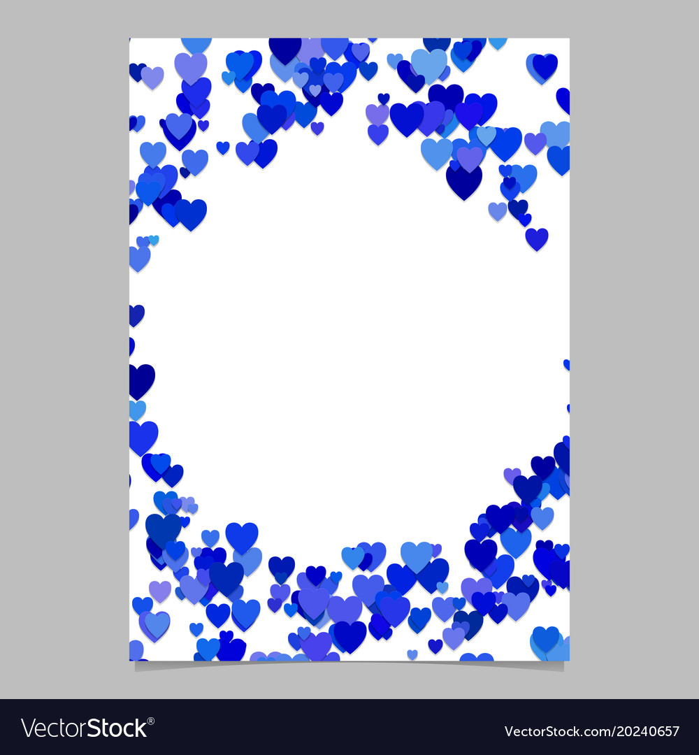 Blue random heart page background design - love