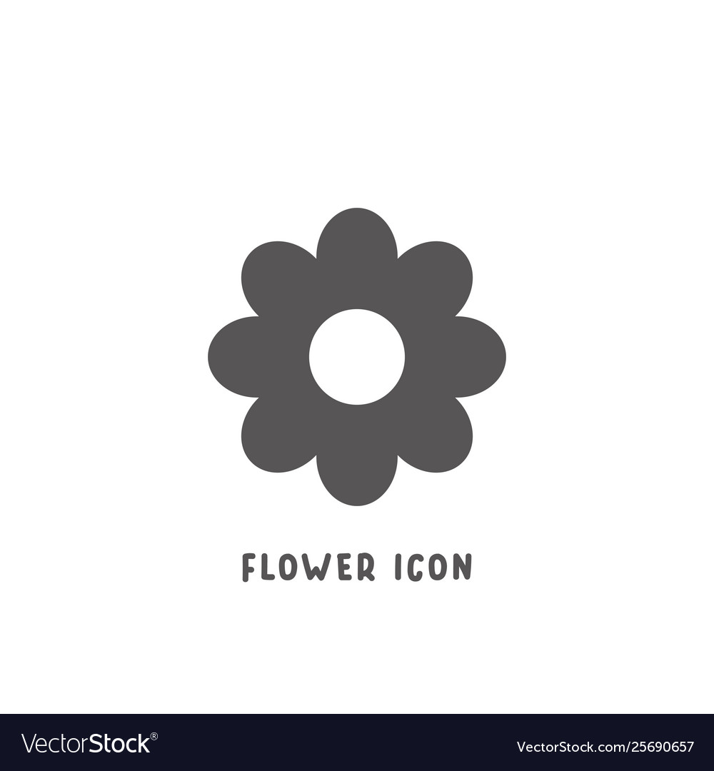 Flower icon simple flat style