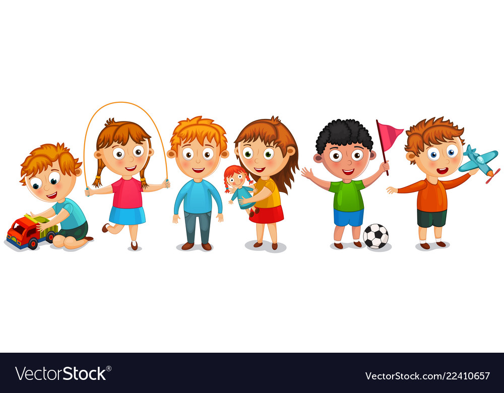 Funny kids isolated