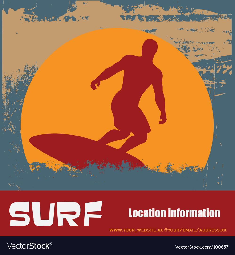 Grunge surfer background
