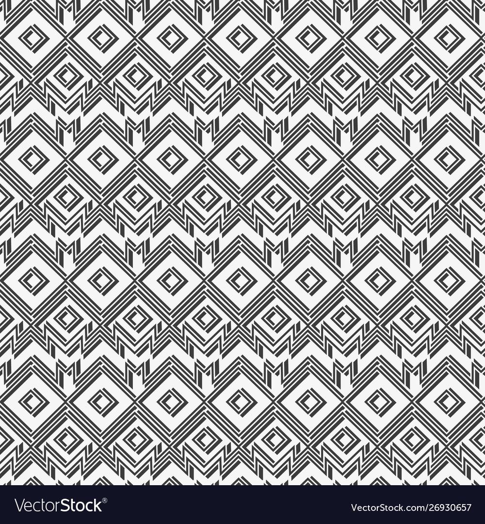 Monochrome retro geometric pattern