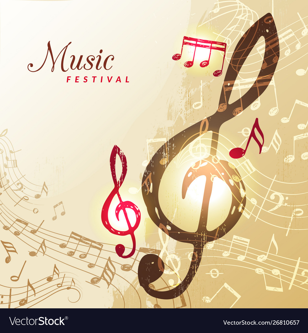 Music notes background festival instrument song