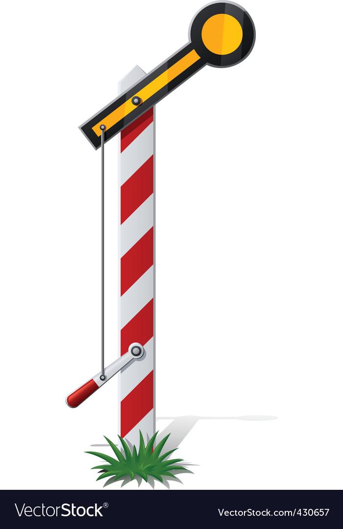 Railroad semaphore