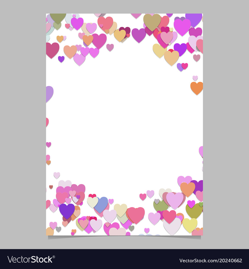 Chaotic heart page template design - valentines vector image