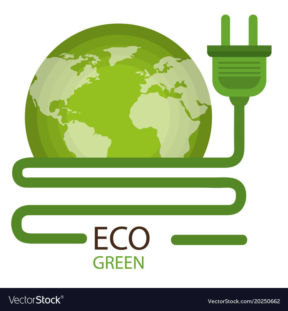 Go Green World Planet Royalty Free Vector Image