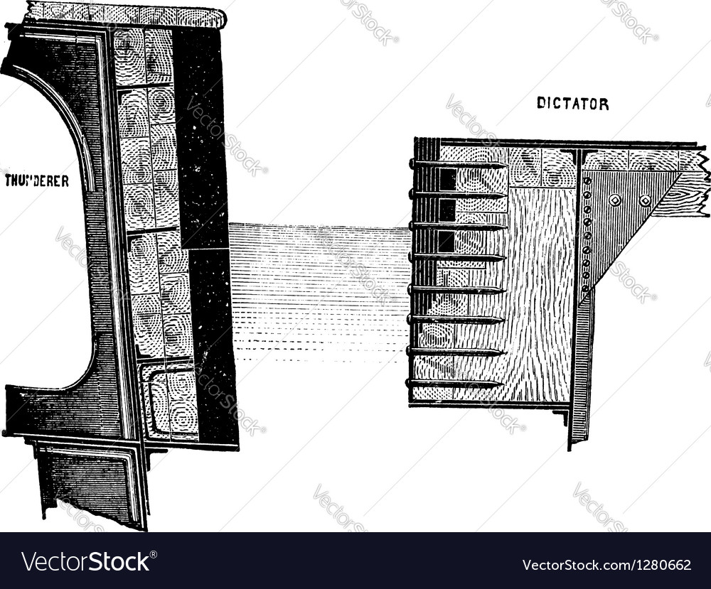 HMS Thunderer engraving