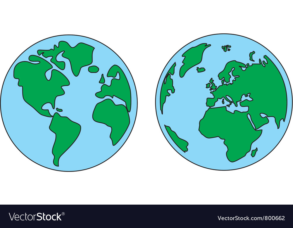 Planet Earth Green And Blue Royalty Free Vector Image