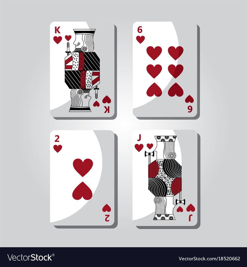 Poker cards hearts casino gamling symbol