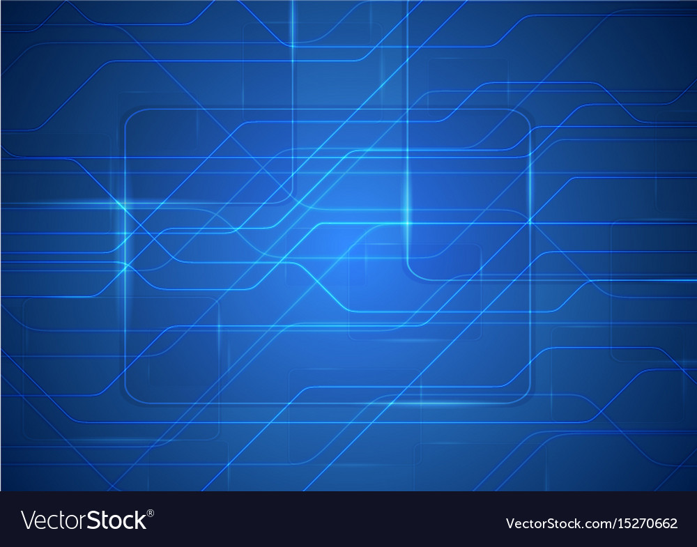 tech sci fi abstract blue circuit board background vector