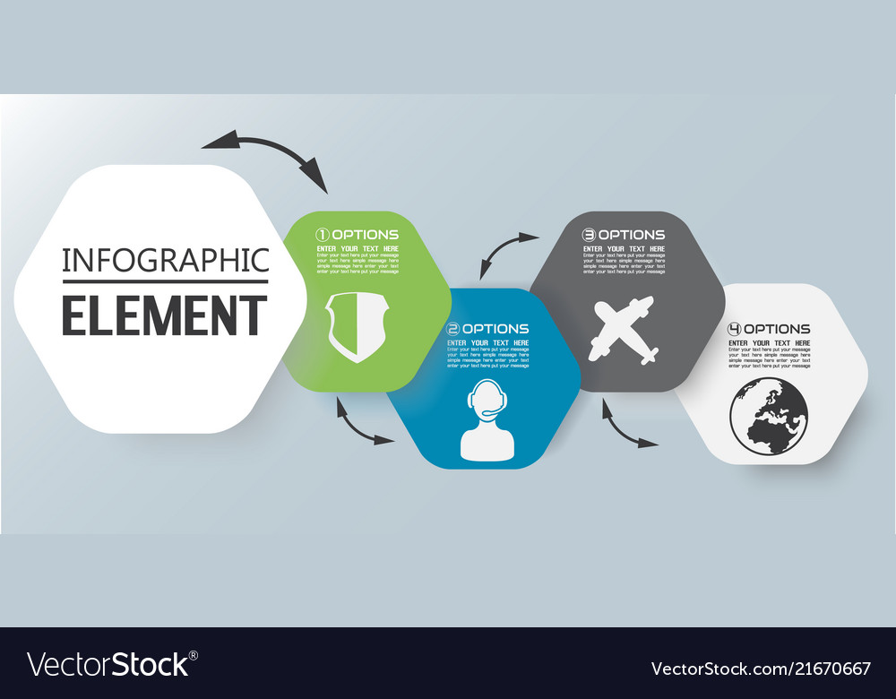 Element Chart Template | Element For Infographic Chart Template Geometric Vector Image