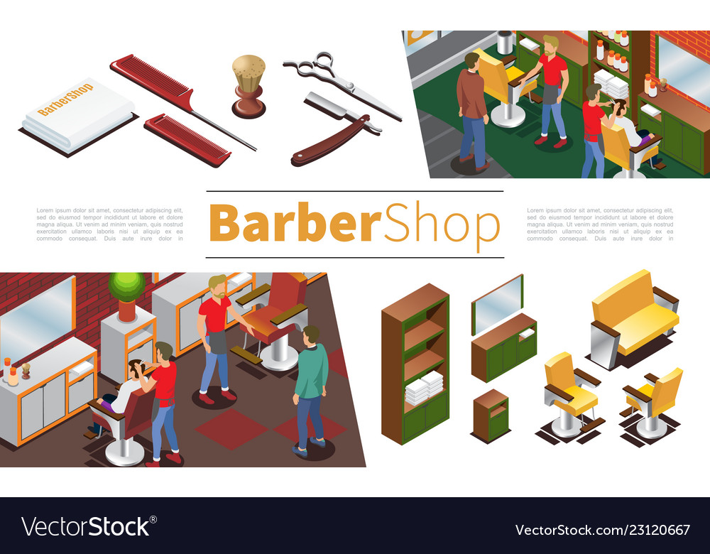 Isometric barbershop elements collection