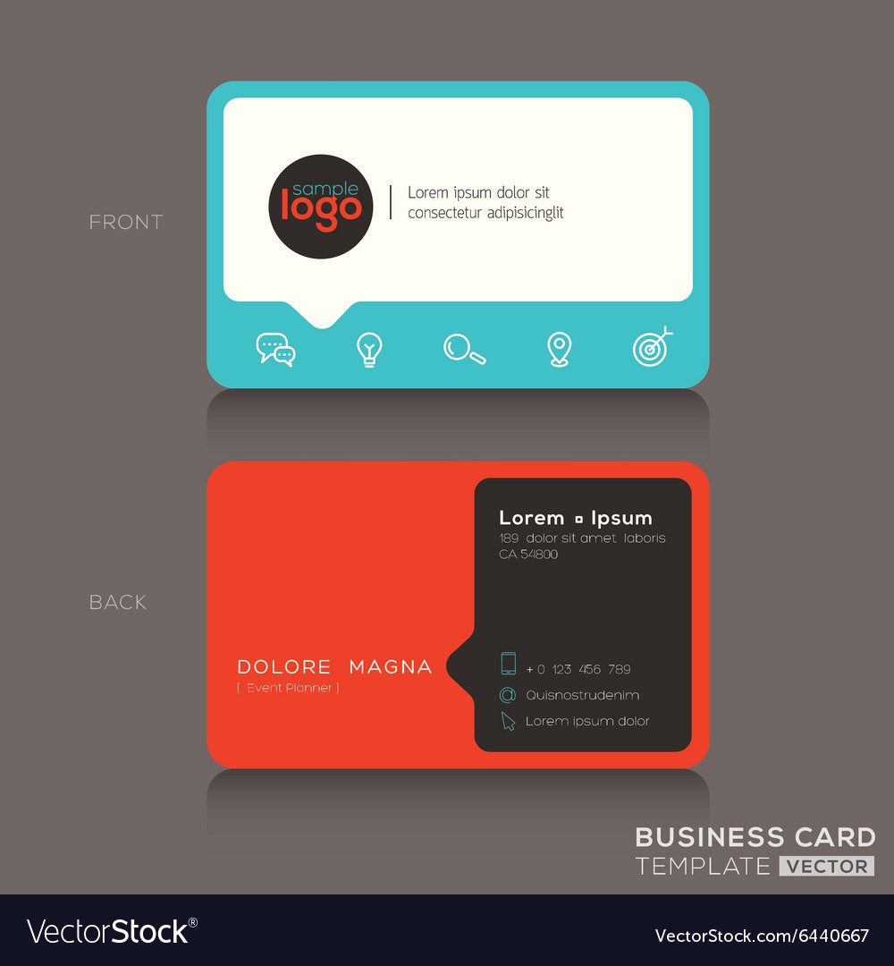 Modern trendy business card design Royalty Free Vector Image