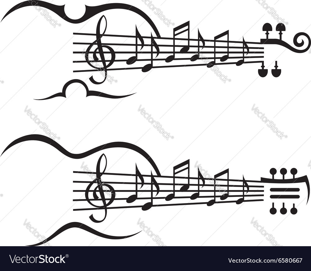 Music notes on stave vector image