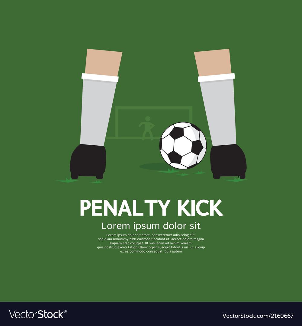Penalty Kick vector image