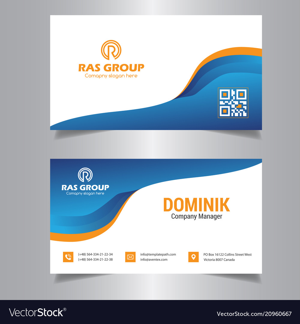 Professional business card royalty free vector image professional business card vector image reheart Gallery