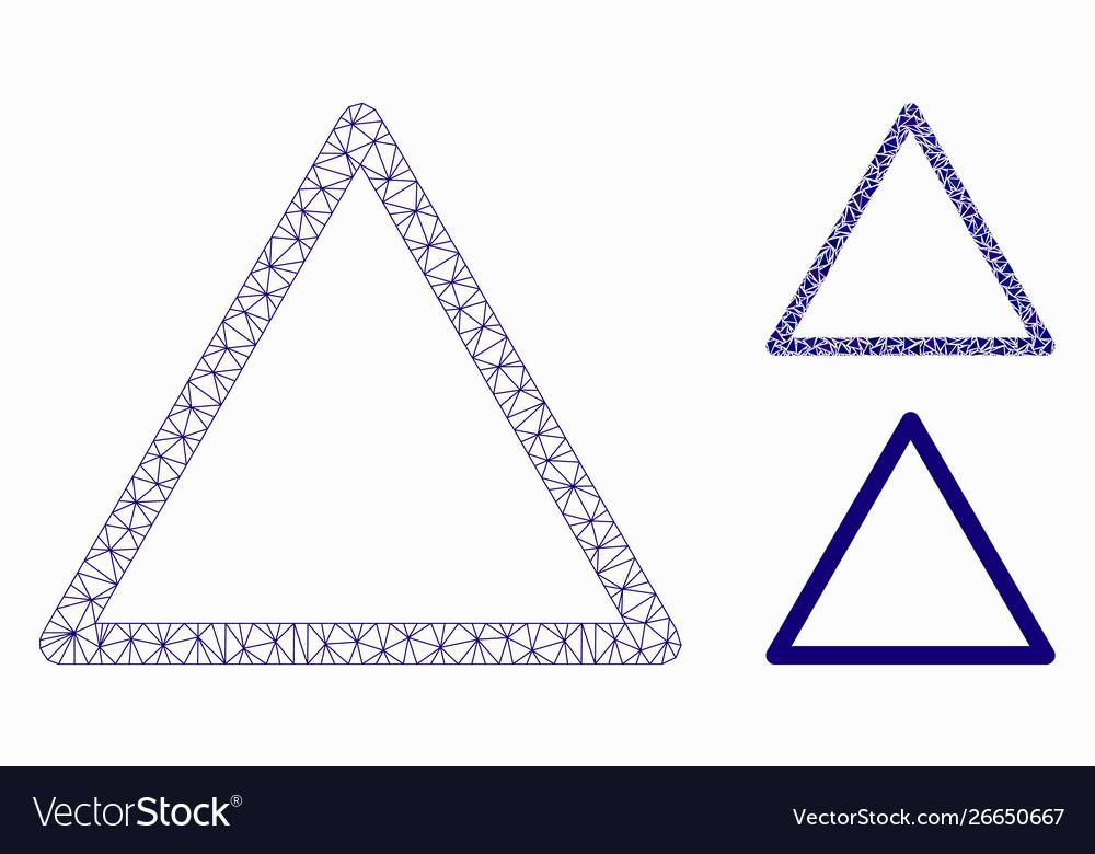 käytettävissä myydyin tuote hienoja tarjouksia 2017 Rounded triangle frame mesh 2d model and