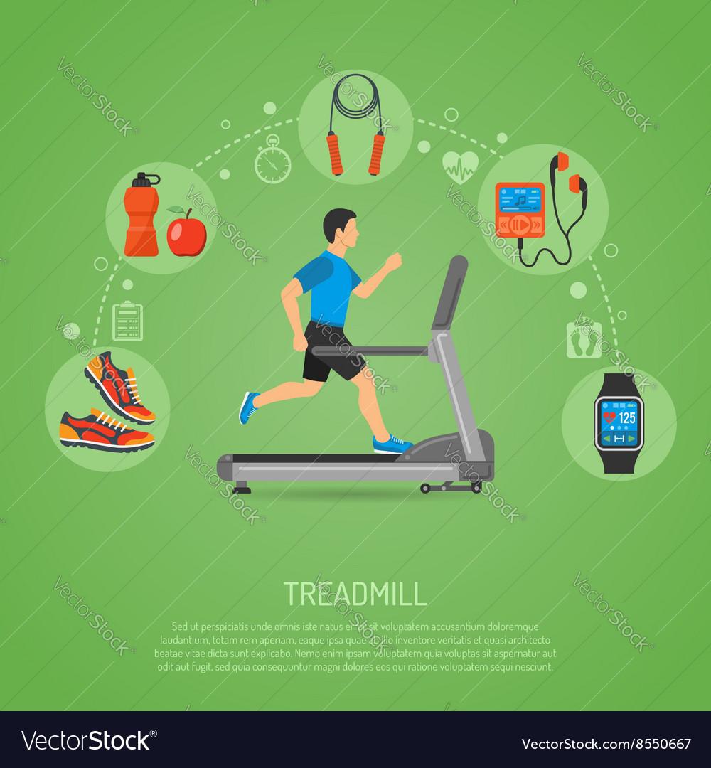 Runner on Treadmill Concept