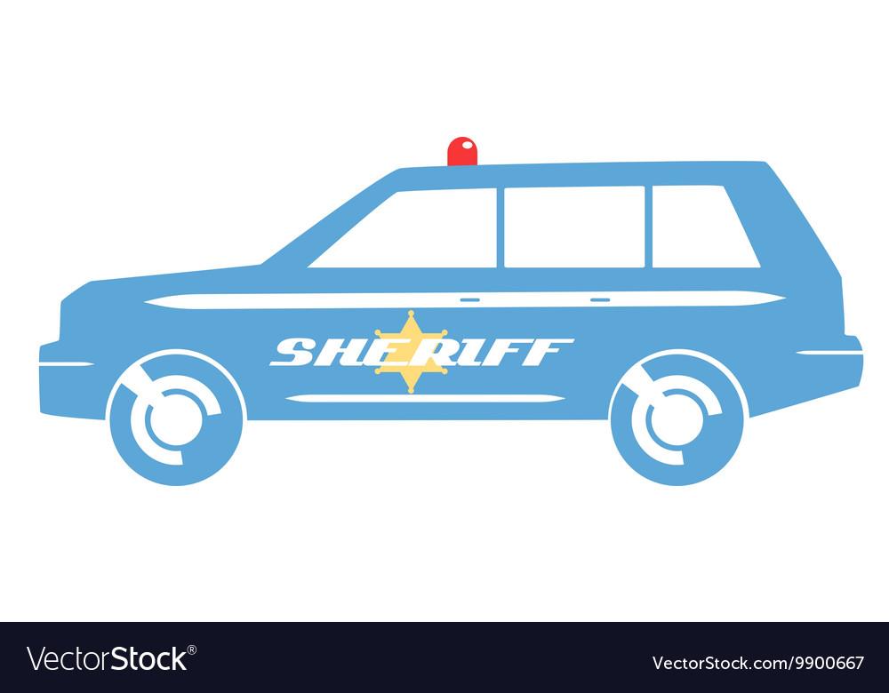 Sheriff car flat design vector image