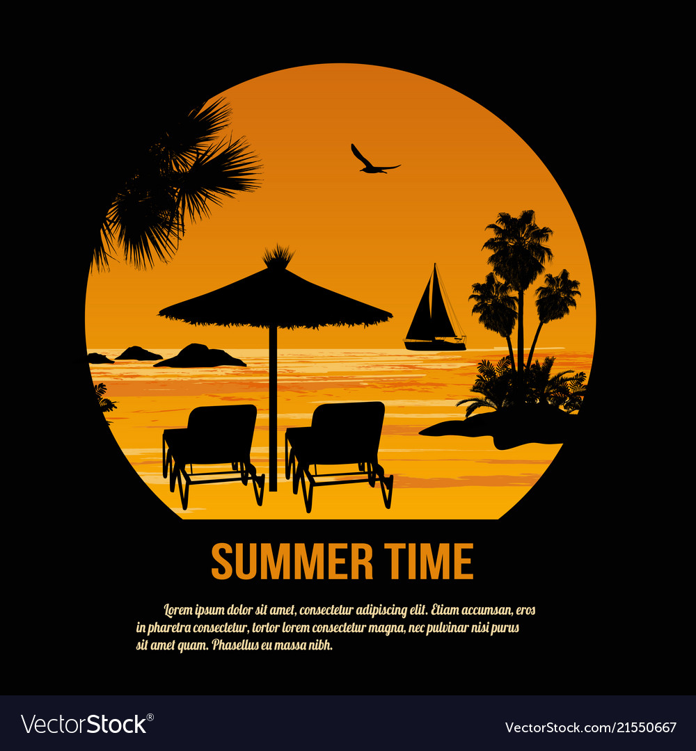 Summer time theme poster design