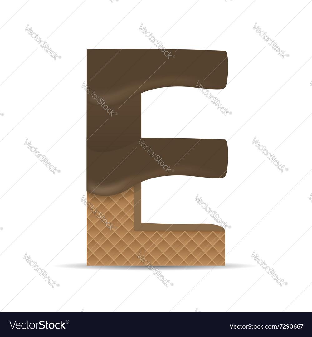 Wafer E letter vector image