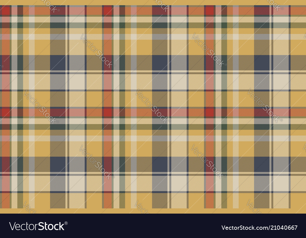 Yellow plaid check fabric texture seamless pattern