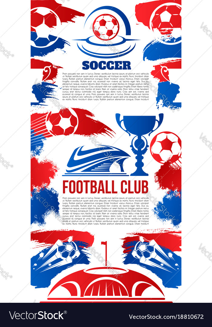 Banner for football college league club