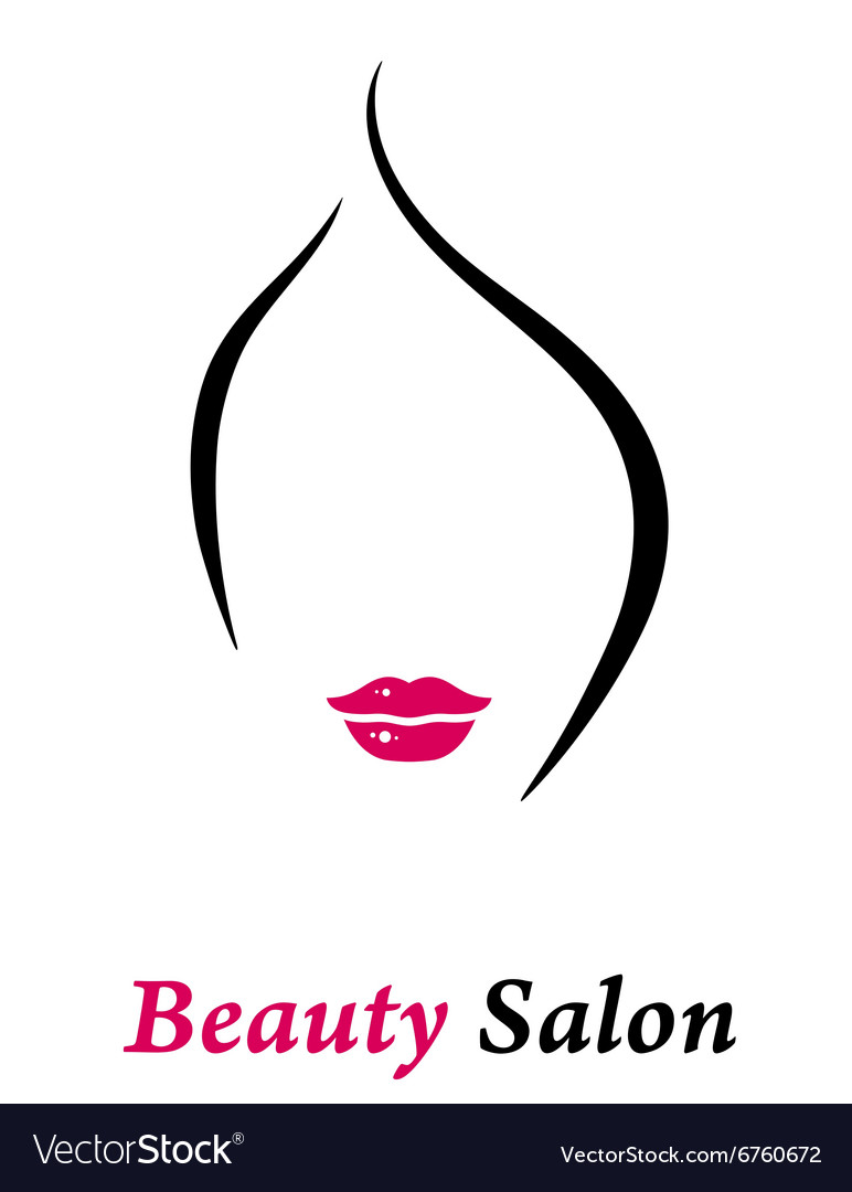 Beauty salon icon vector image