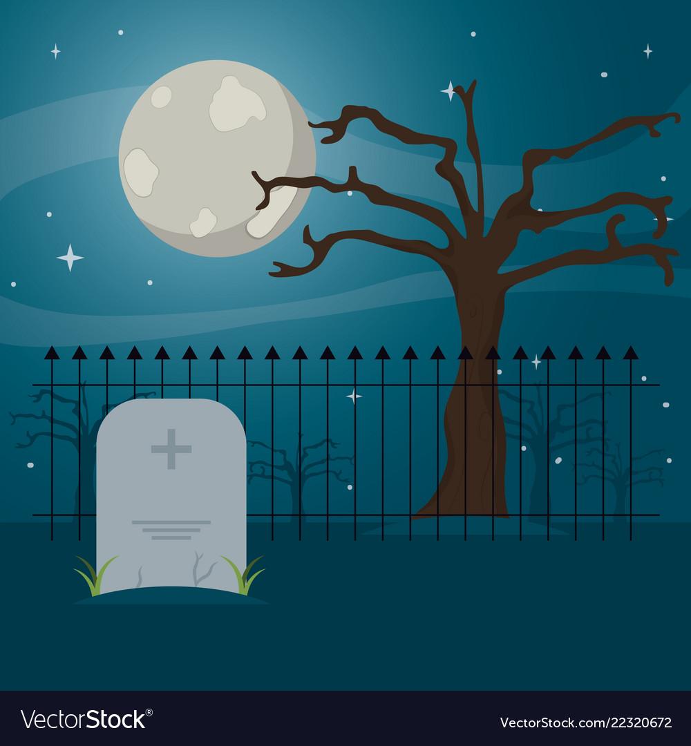 Cemetery icon design