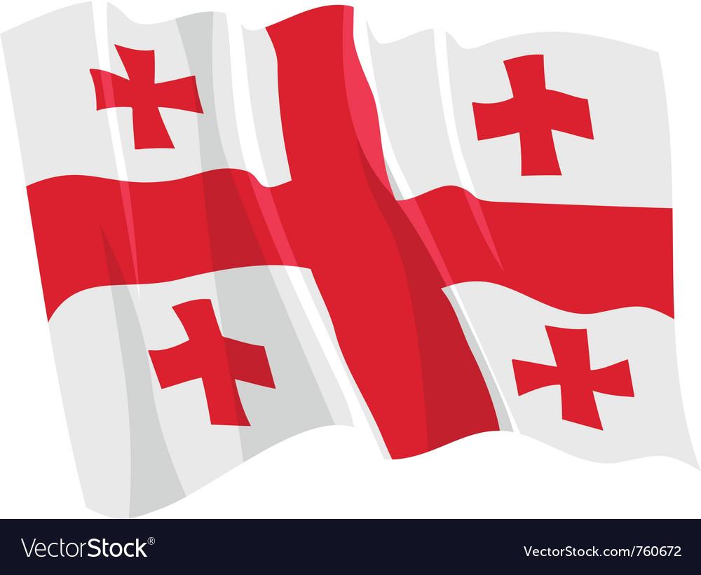 Political waving flag of georgia
