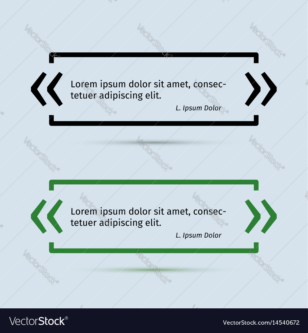 Quotation field frame design template vector image