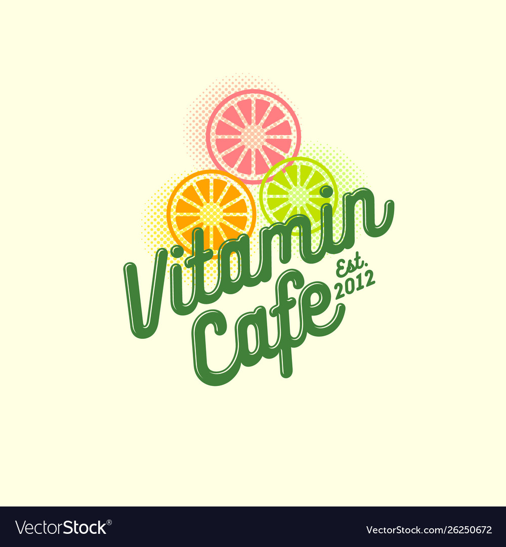 Vitamin cafe logo smoothie detox juice health