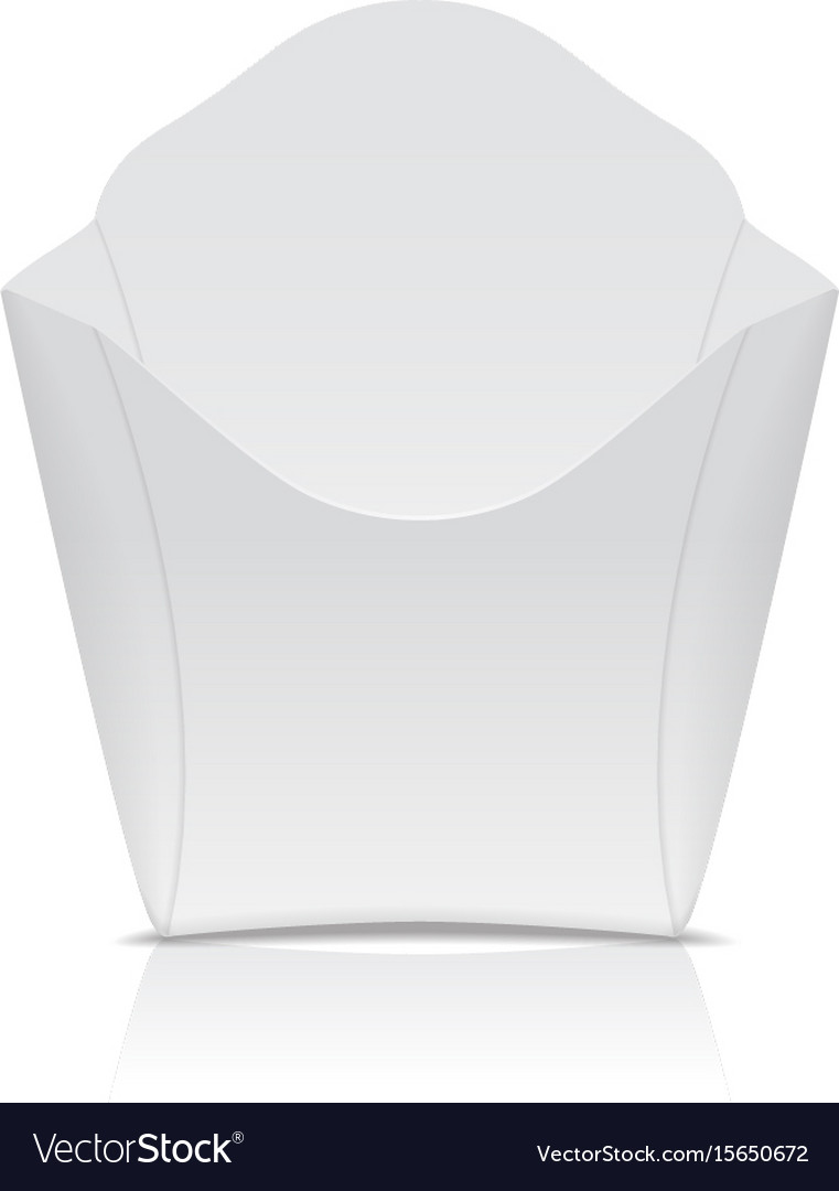 White paper box for fast food or french fries