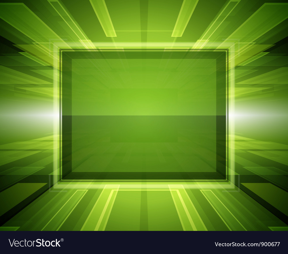 Abstract virtual space with screen vector image