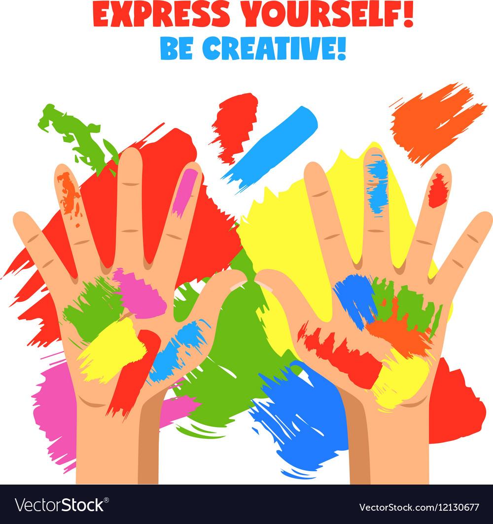 Art Hands vector image