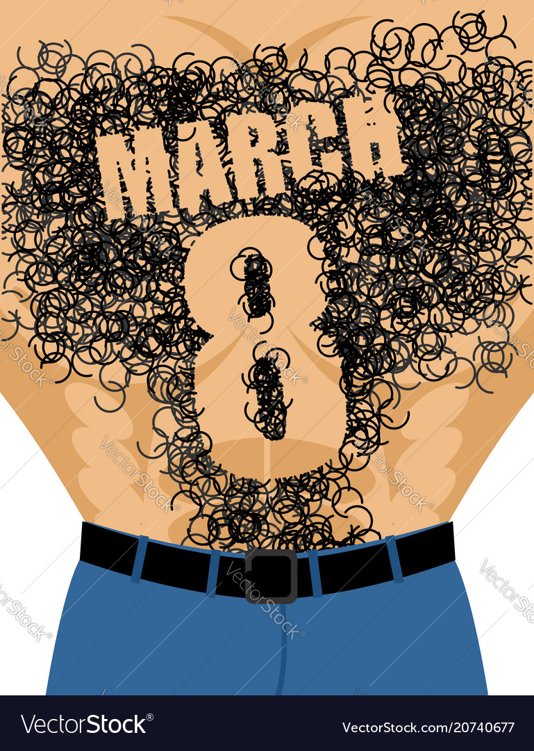 March 8 male torso with hair epilation number