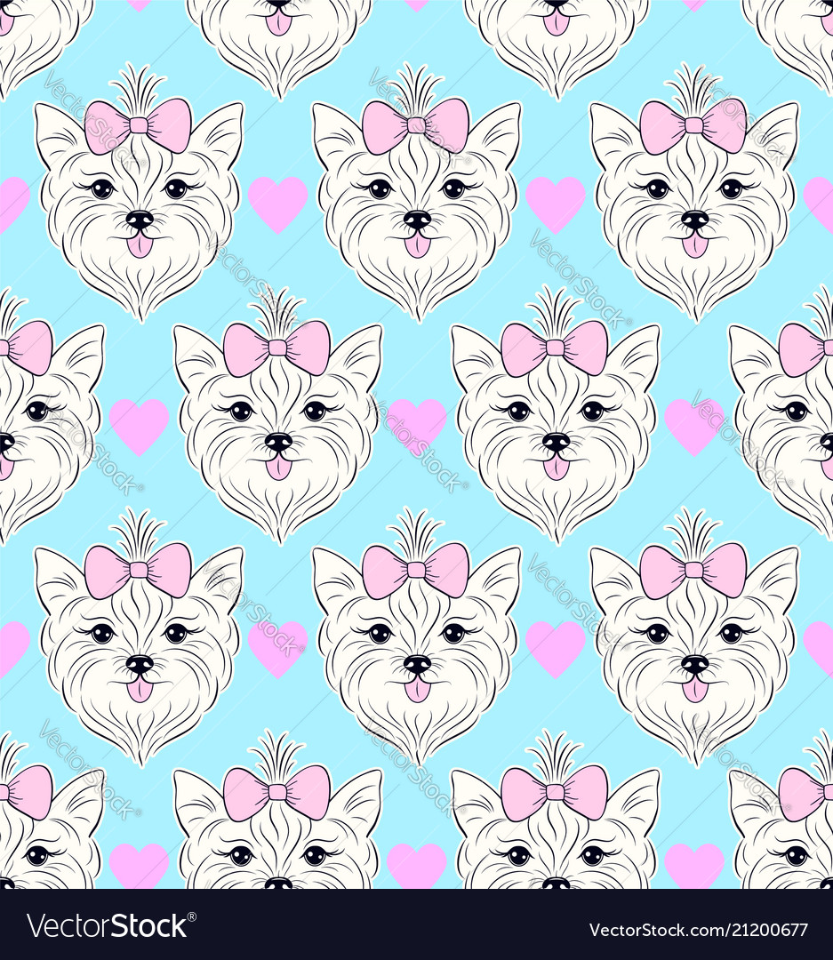 Pattern with head of dog