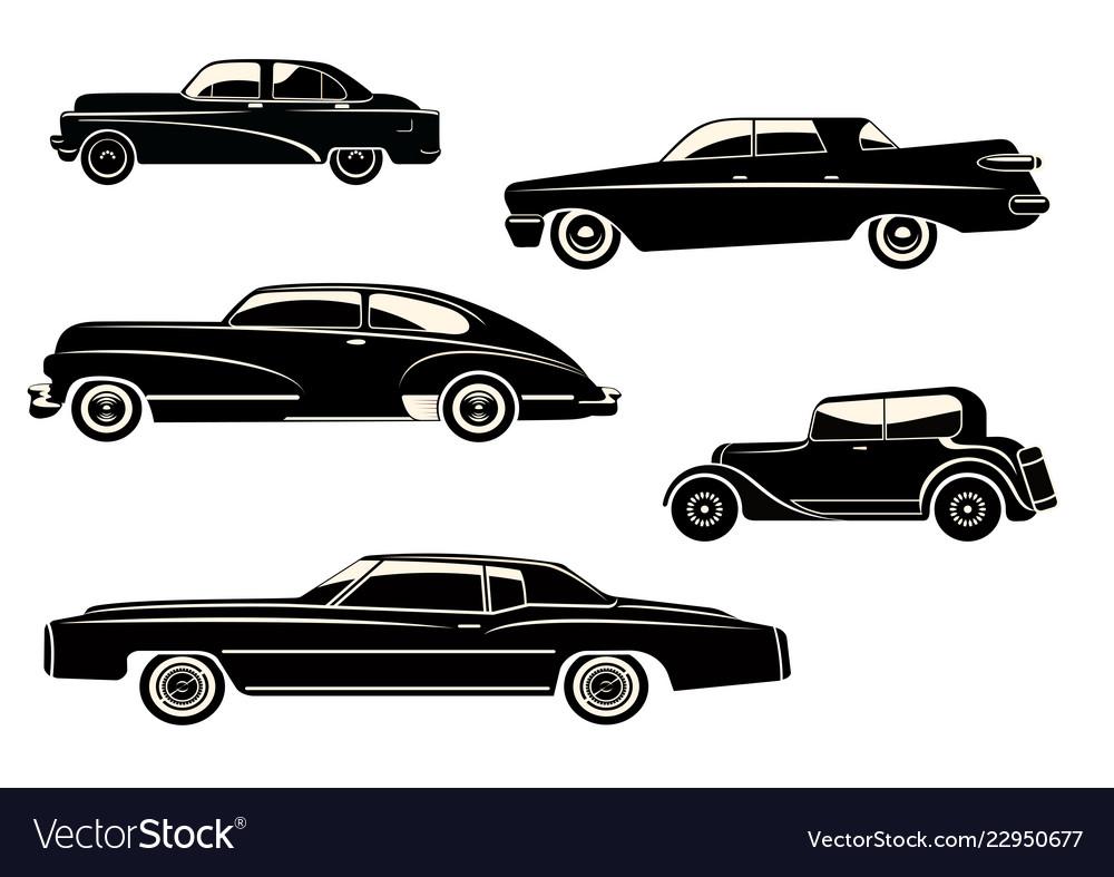 With black retro car