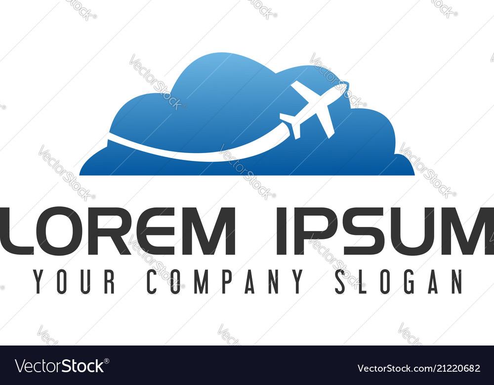 Cloud travel logo design concept template