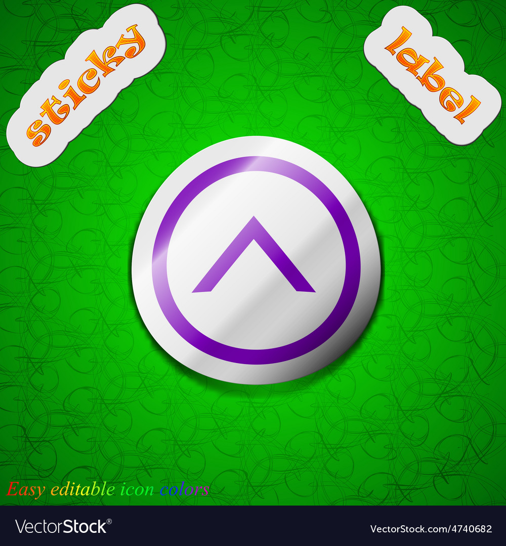 Direction arrow up icon sign Symbol chic colored