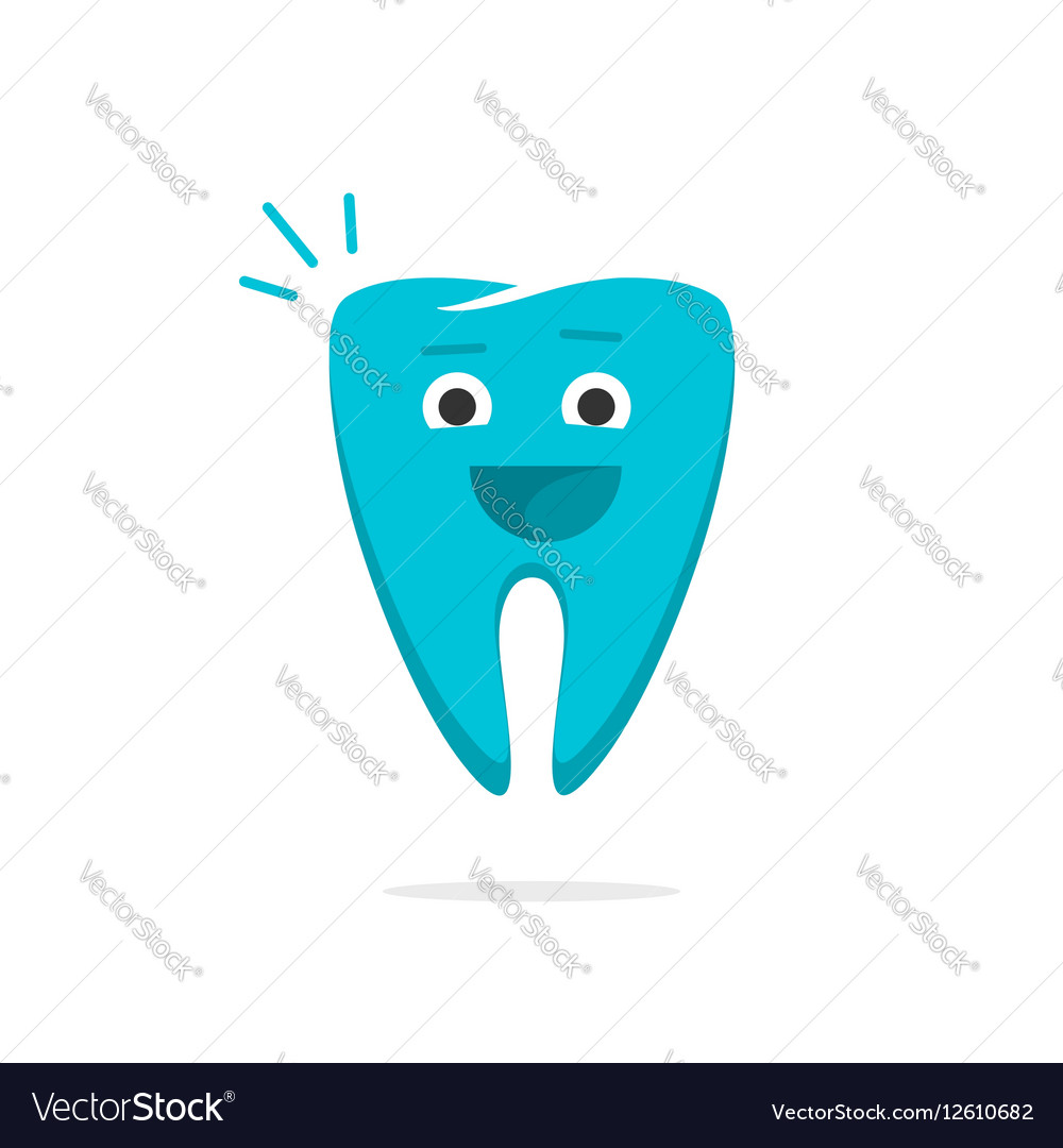 Happy dental tooth cheerful healthy with smile