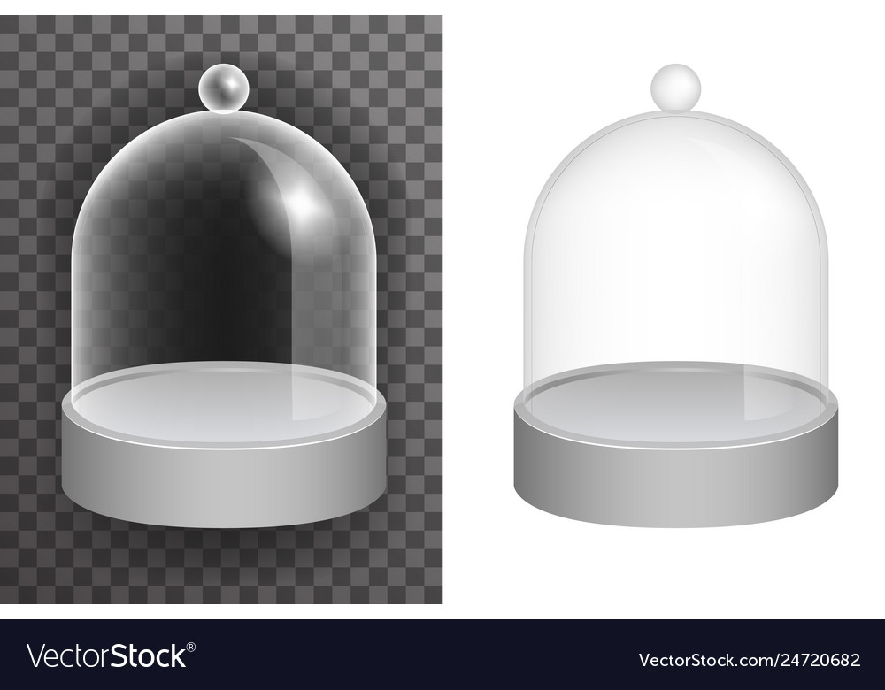 Isolated dome glass showcase box isolated 3d