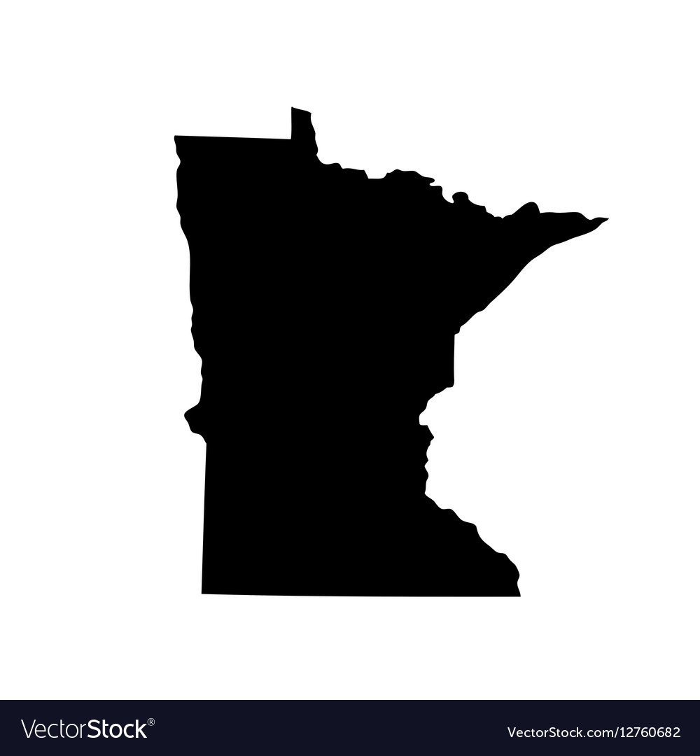 Map Of The Us State Minnesota Royalty Free Vector Image - Minnesota-in-us-map