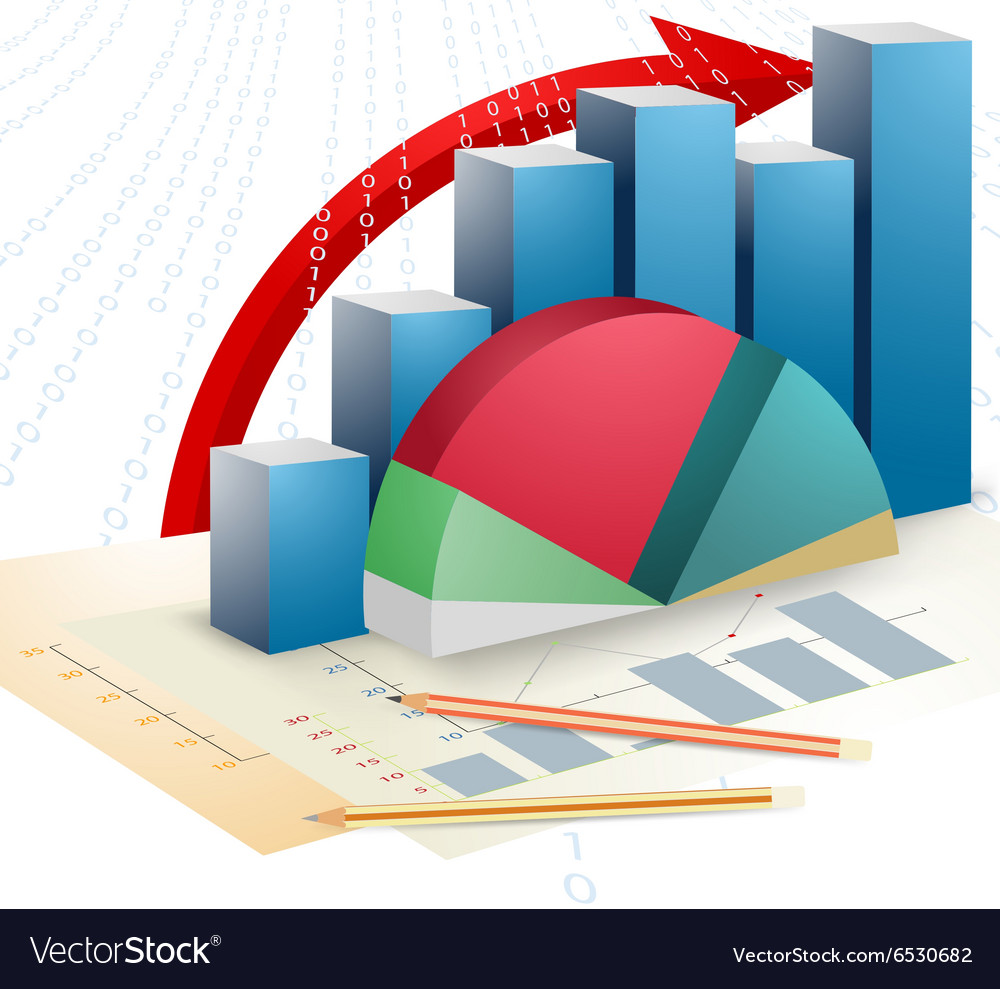 Presentation business bar graph